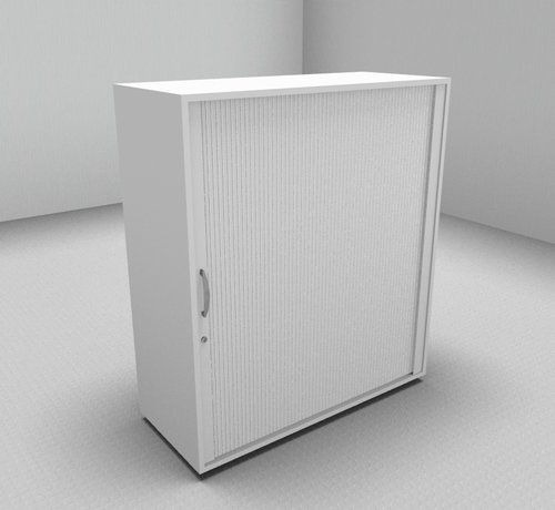 Serie MA Hochwertiger Querrollladenschrank mit 3 Ordnerhöhen und Rollladen in weiß, 100cm breit