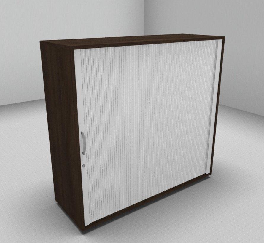 Hochwertiger Querrollladenschrank mit 3 Ordnerhöhen und Rollladen in weiß, 120cm breit