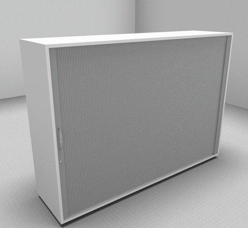 Serie MA  Hochwertiger Querrollladenschrank mit 3 Ordnerhöhen, 160cm breit  - Rollladen in silbergrau