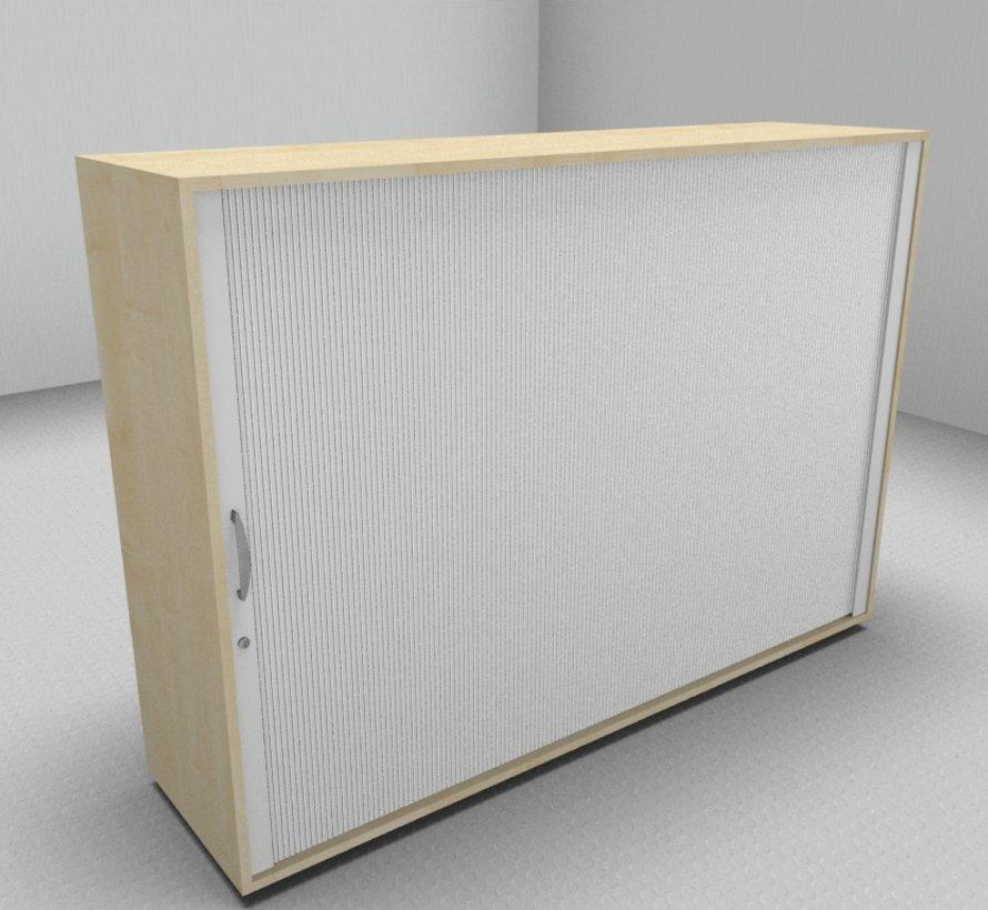 Hochwertiger Querrollladenschrank mit 3 Ordnerhöhen und Rollladen in weiß, 160cm breit