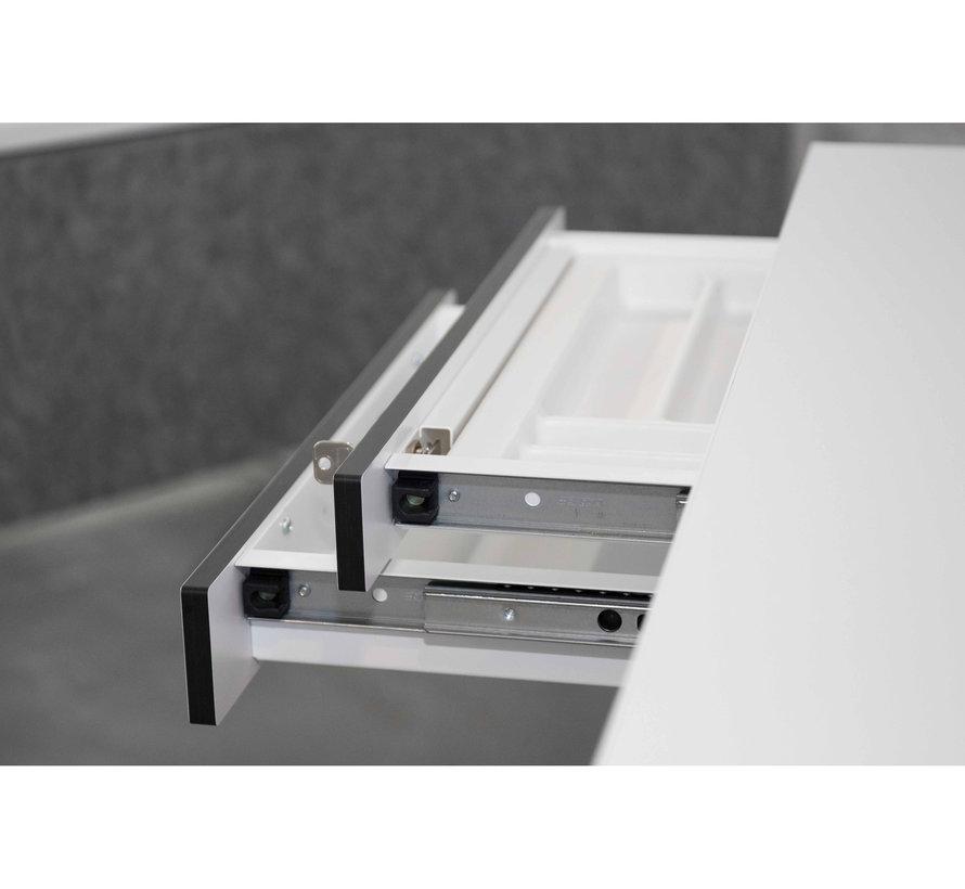 2-fach-Unterbauschublade für Empfangstheken und Schreibtische