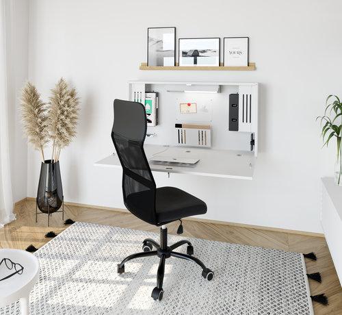 Serie HB Wandschreibtisch als Mini Home Office mit viel Zubehör