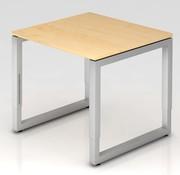 Serie HB Schreibtisch Q 80 x 80 cm in Silber im Raster höhenverstellbar