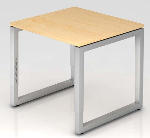 Serie HB Schreibtisch Q 80 x 80 cm in Silber im Raster höhenverstellbar und in 7 Farbvarianten