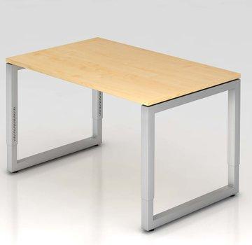 Serie HB Schreibtisch Q 120 x 80 cm in Silber im Raster höhenverstellbar