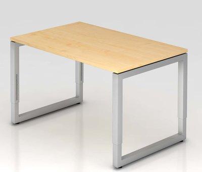 Serie HB Schreibtisch Q 120 x 80 cm in Silber im Raster höhenverstellbarund in 7 Farbvarianten