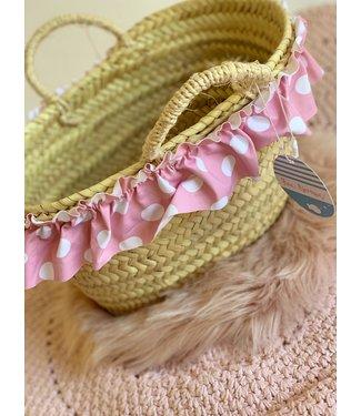 Fina Ejerique Strandtas met roze polka strik