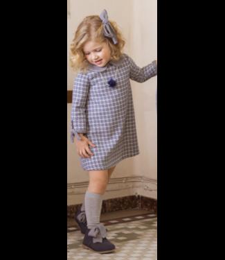 Fina Ejerique Blauw klassiek jurkje met kraag  12Y