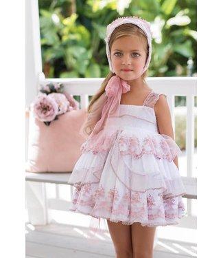 Niña de las flores Zacht roze ceremonie jurk 5Y
