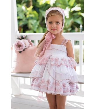 Niña de las flores Zacht roze ceremonie jurk