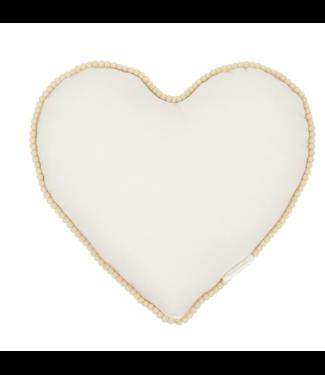 Cotton & sweets Heart pillow boho