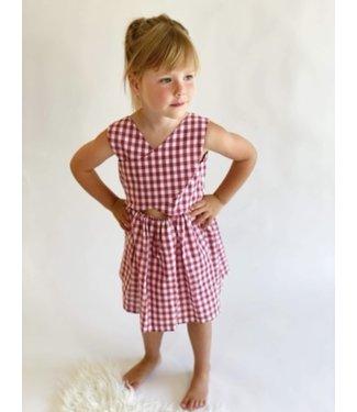 Fina Ejerique Fina Ejerique jurk rood wit geruit Laura