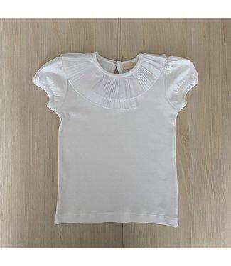 Babylai Babylai bodysuit wit met plooitjes aan de kraag