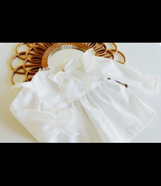 Be Chic Ivoor blouse met parel en strik
