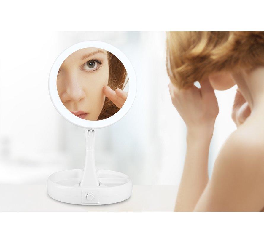 Handige uitklapbare Make-up spiegel