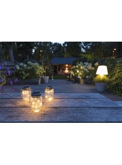 LED Solar lamp in pot Detroit 3/set