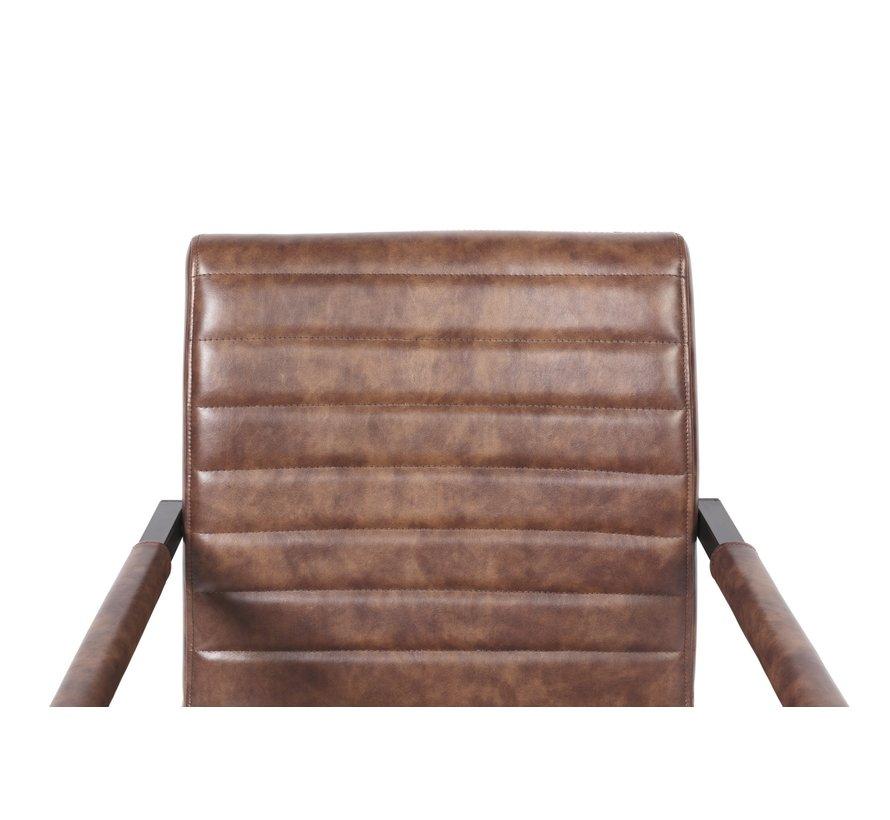 Stijlvolle industriële swinger stoelen - set van 2