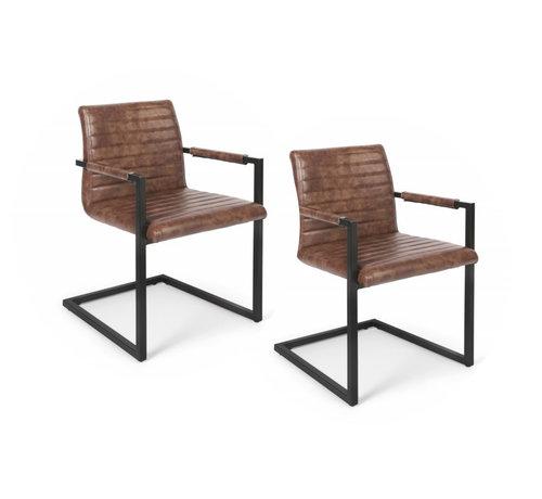 Lifa Living Stijlvolle industriële swinger stoelen - set van 2