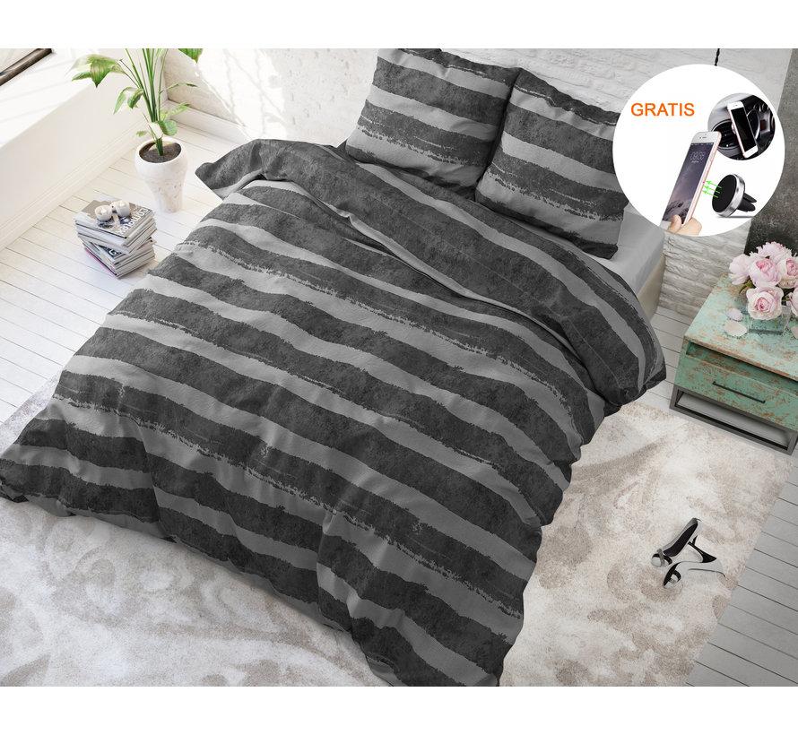 Sleeptime Mari Antraciet - Dekbedovertrek + GRATIS Magnetische Telefoonhouder