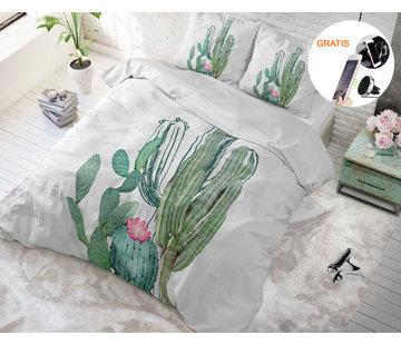 Sleeptime Cactus Marble - Dekbedovertrek + GRATIS Magnetische Telefoonhouder t.w.v. € 9,95