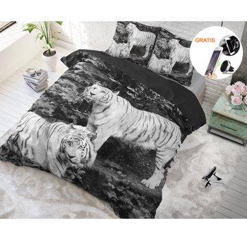 Dreamhouse Dreamhouse Tigers Grey - Dekbedovertrek + GRATIS Magnetische Telefoonhouder t.w.v. € 9,95