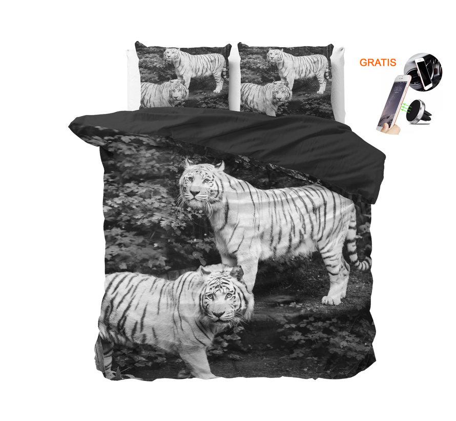 Dreamhouse Tigers Grey - Dekbedovertrek + GRATIS Magnetische Telefoonhouder t.w.v. € 9,95