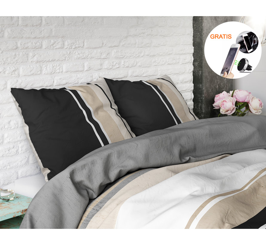 Sleeptime Elegance Brexton - Dekbedovertrek + GRATIS Magnetische Telefoonhouder t.w.v. € 9,95