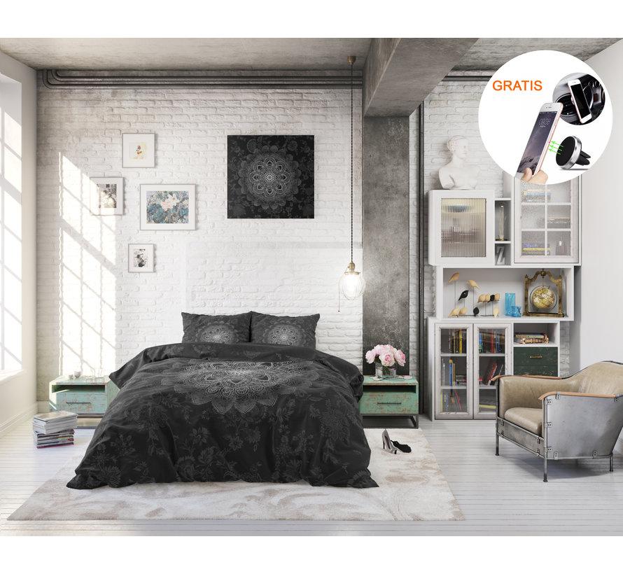 Dreamhouse Katinka Antraciet - Dekbedovertrek + GRATIS Magnetische Telefoonhouder t.w.v. € 9,95