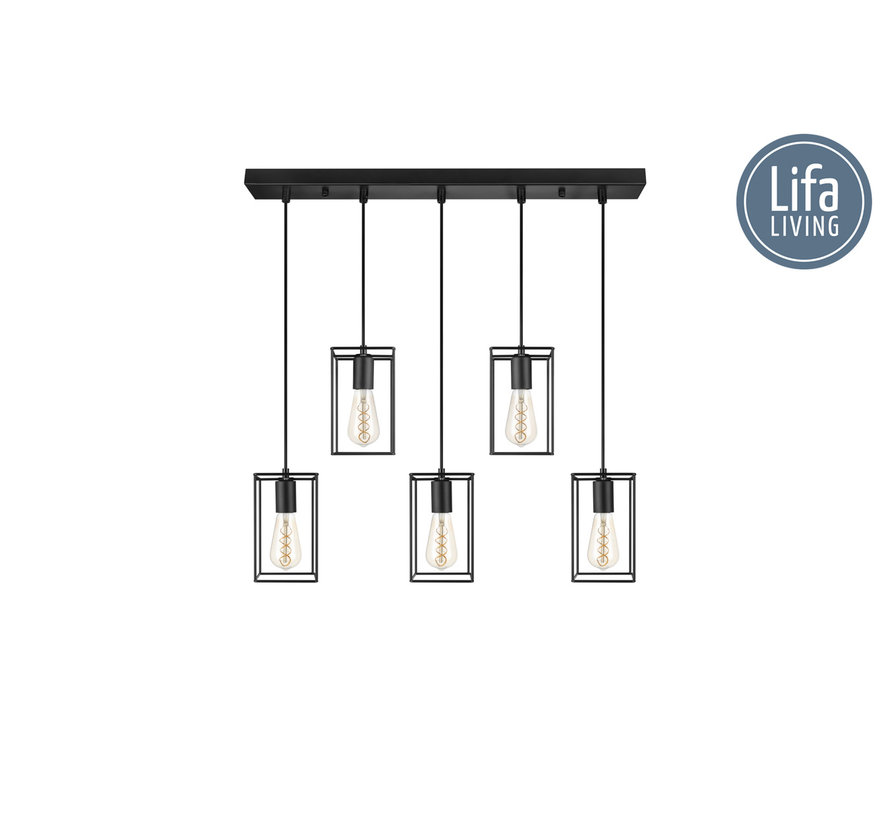 Moderne Metalen Hanglamp Emile - Lifa Living