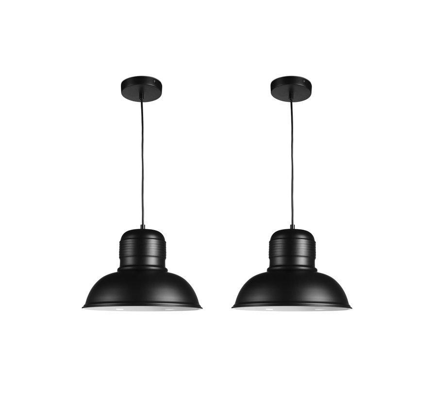Helsinki hanglampen Zwart - Lifa Living - 2 stuks