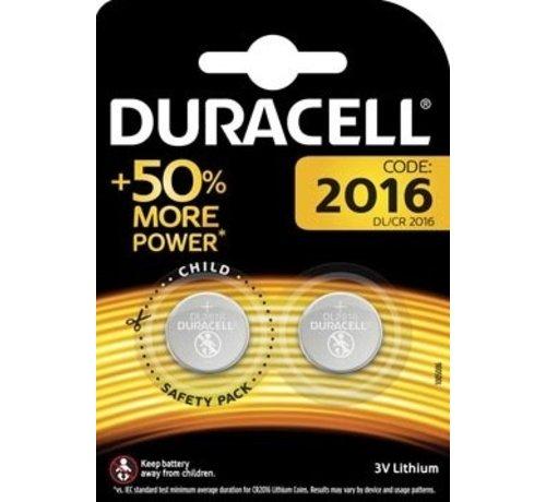 Duracell Duracell DL/CR2016 Knoopcelbatterijen - 2 stuks