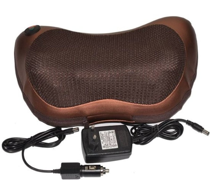 Elektrische massagekussen voor auto en thuis - incl. stroom adapter en autolader