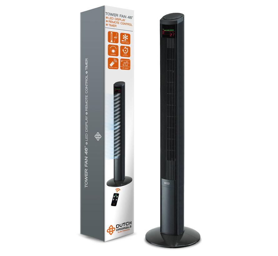 Luxe XXL Torenventilator van Dutch Originals incl. Afstandsbediening en LED Display (122 cm hoog) OP = OP!