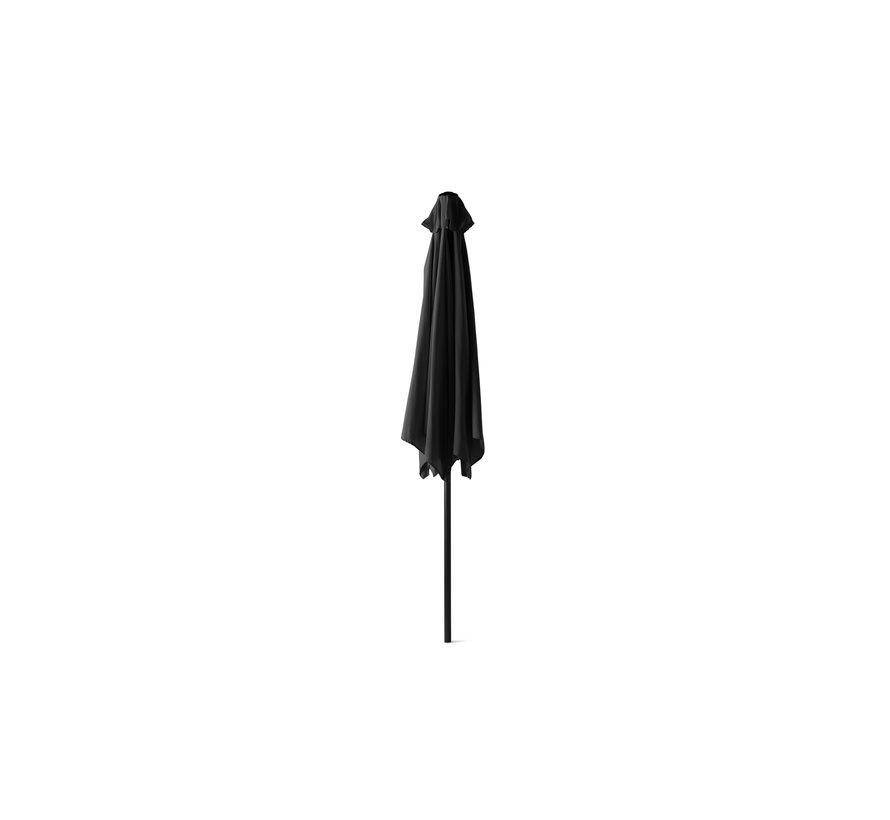 XL Parasol - Voor Terras/Balkon/Tuin - GEEN Voet & Standaard! - Ø300 CM Groot - Zwart