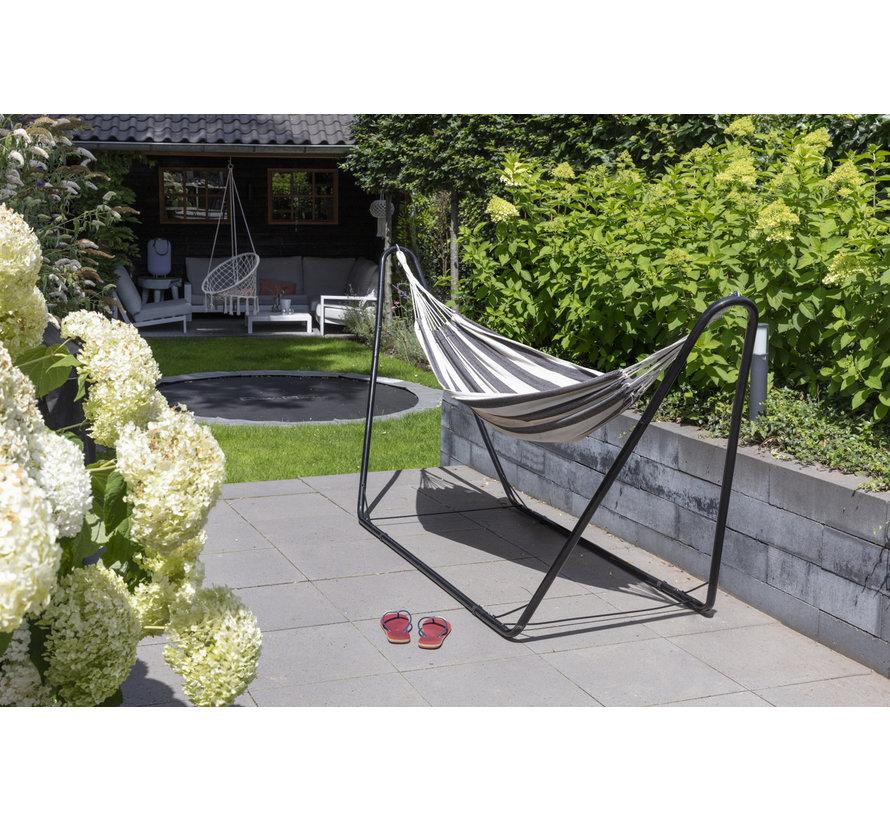 Prachtige hangmat met standaard - Zwart-Witte