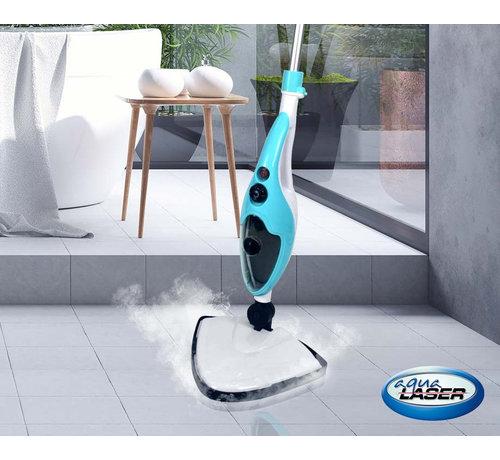 Aqua Laser Aqua Laser Stoomreiniger Brilliant - 2-in-1 stoommop - 1500 W - Blauw