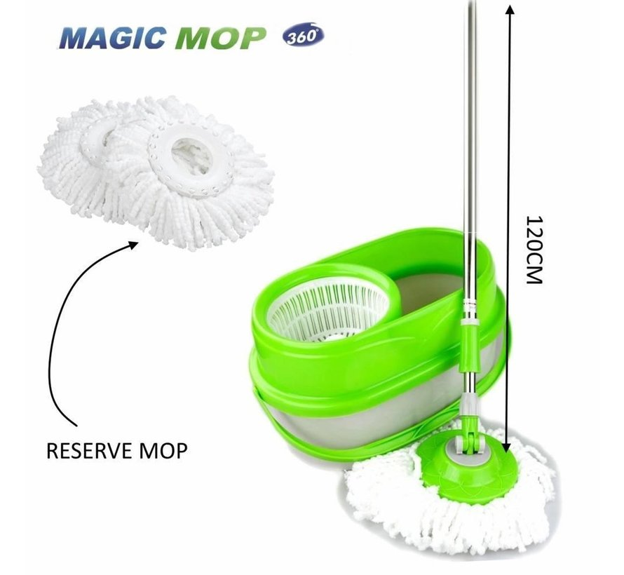 Benson Clean Spin Mop - Inclusief Emmer