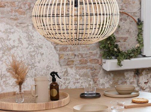 Lifa Living Hanglamp Mykonos - bamboe - Naturel of Zwart - Lifa Living