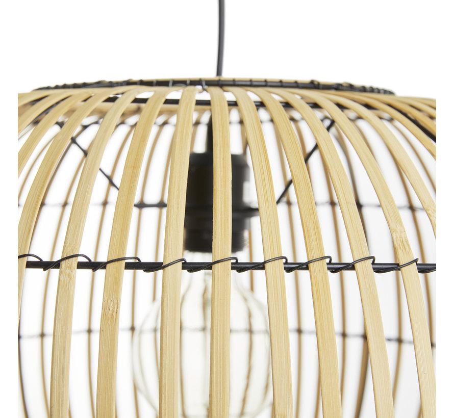 Hanglamp Mykonos - bamboe - Naturel of Zwart - Lifa Living