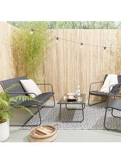 Luxe Tuinset Camilla - Een zitbank, 2 Stoelen en een Glazen Tafel