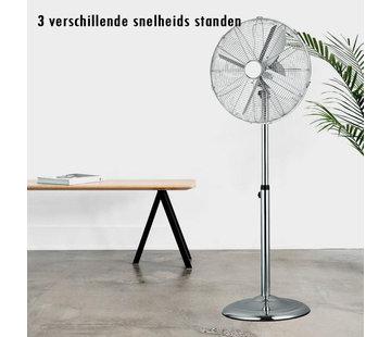 Statiefventilator - Chroom - In hoogte verstelbaar - Ø 40 cm