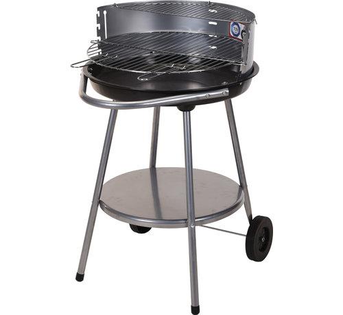 Barbecue Op Wielen - Zwart Staal - 51,5 Cm