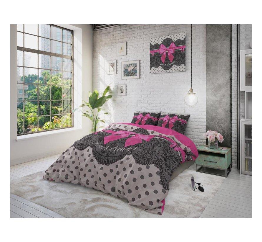 Dreamhouse Pure Cotton Romance-dekbedovertrek + kussenslopen 60x70