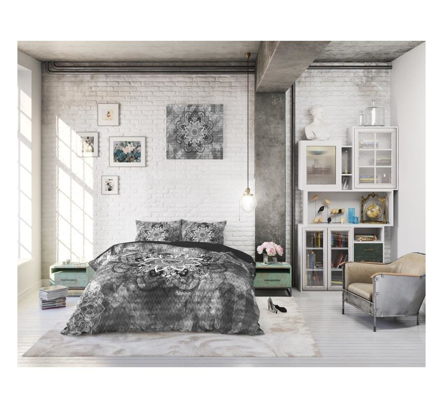 Dreamhouse Jady - dekbedovertrek+ Kussenslopen 60x70 cm - Antraciet