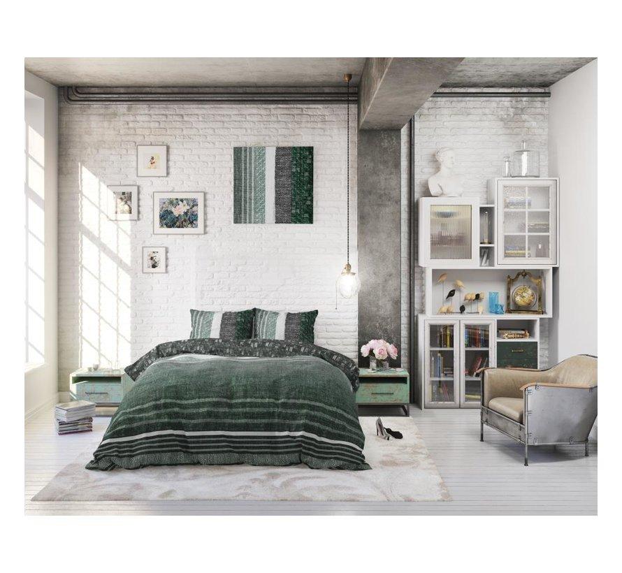 Dreamhouse Matrix Groen - dekbedovertrek + Kussenslopen 60x70 cm