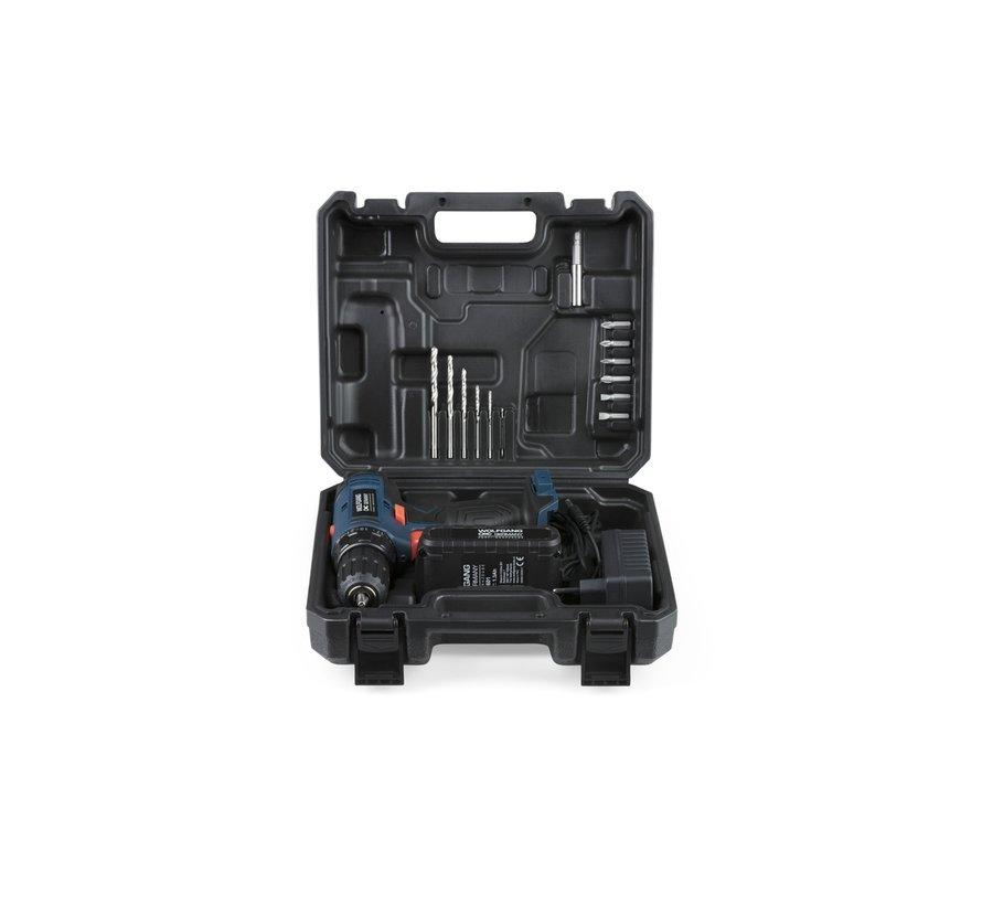 Krachtige Boormachine 20V Wolfgang Germany - Incl. Bits en Boren - 1500 mAh