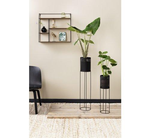 Lifa Living Prachtige Bloempot - Plantenbak - Set van 2 - Zwart