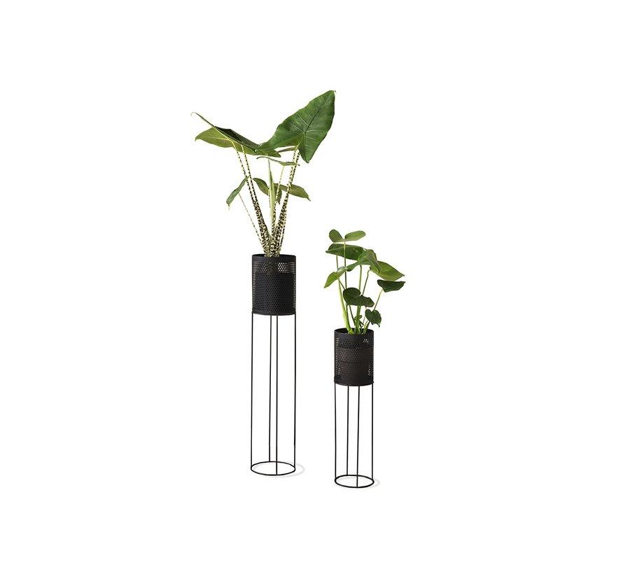 Prachtige Bloempot - Plantenbak - Set van 2 - Zwart