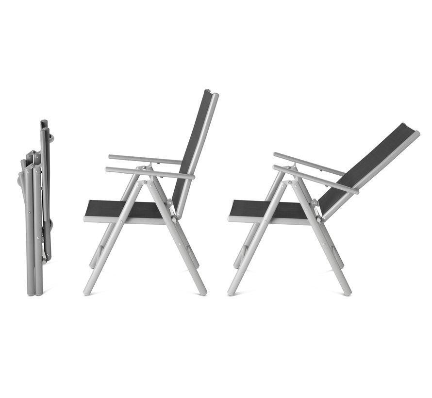 1 + 1 Gratis Aluminium Tuinstoel
