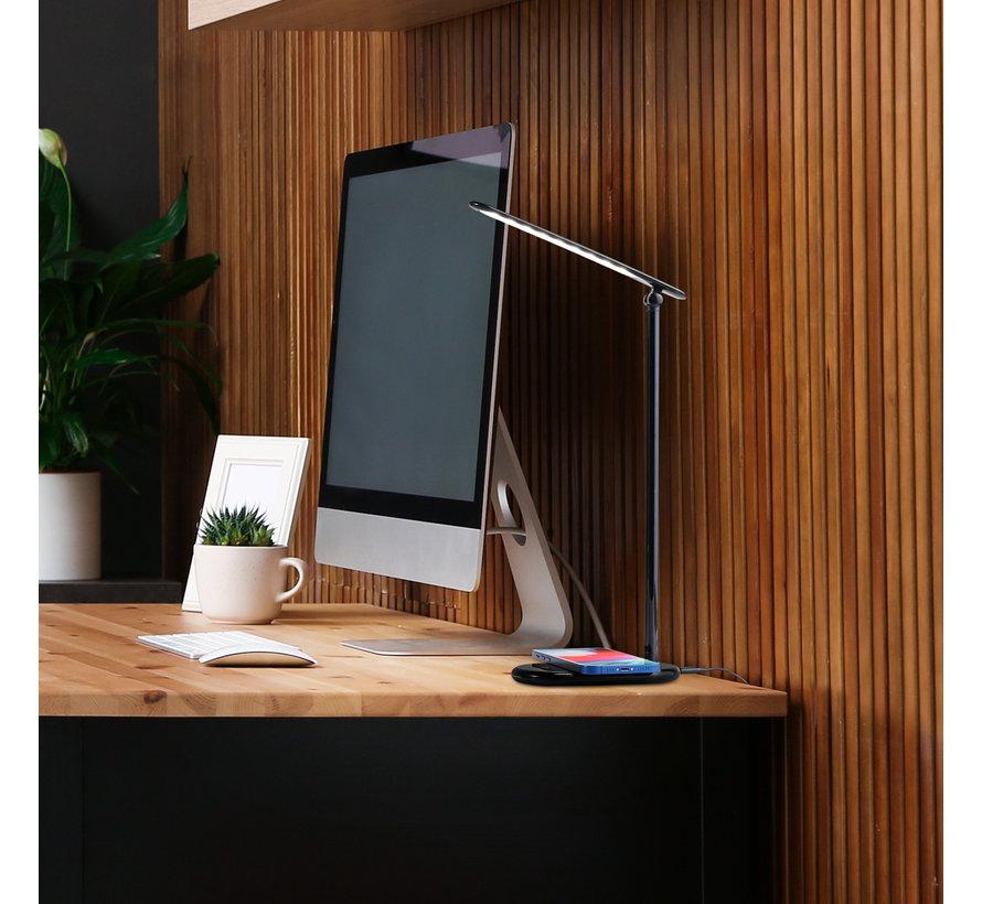 Bureaulamp LED met Draadloze Smartphone Oplader - Qi